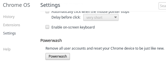 Powerwash Chromebook Reset Factory Settings